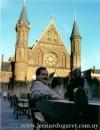 En La Haya, con María Cristina Reyes