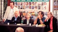 Mesa que presidió el lanzamiento de la traducción al portugués de Sombras sobre la tierra, de Francisco Espínola, San Pablo, el 16 de noviembre de 2016.