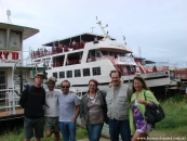 Con participantes del Festival de Corumbá, Río Paraguay, abril de 2012.