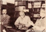 Con Paul Baccino y Marosa di Giorgio, Librería Linardi y Risso, Montevideo, 1992