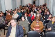Asistentes al acto desarrollado en Casa Quiroga, el 8 de setiembre de 2008, en ocasión de la nominación de Leonardo Garet a la Academia Nacional de Letras