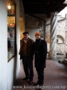 Con el poeta Eloy Santos, en Segovia.