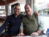 Con el poeta español Eloy Santos
