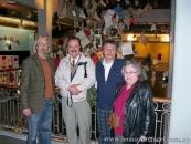 Con Maca, Luis Bravo y Olga Garet, en el Centro Cultural de España