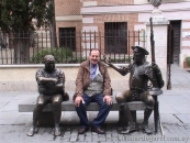 Alcalá de Henares, frente a la casa natal de Cervantes, martes 13 de diciembre de 2011.