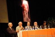 Presentación de El milagro incesante, Teatro Larrañaga, Salto, 2006. Con Manuel Galisteo, Miguel Ángel Campodónico, Néstor Campos y Hebert Benítez