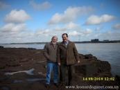 Con el poeta Mario Mele, Salto Grande, 2010.