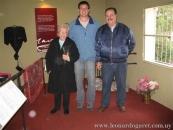 Con Myriam Albisu y Adam Giannelli, traductor de Marosa di Giorgio, en la Sala Marosa