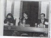 Con Marosa di Giorgio y Hebert Benítez, Ateneo de Salto, 2002