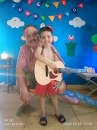 Con su ahijado Maxi Garbarini, en su cuarto cumpleaños.