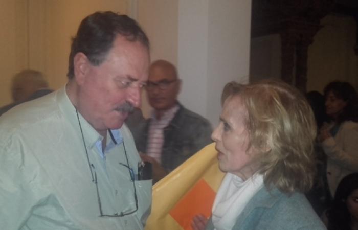 Con Estela Medina.