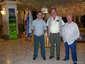 En Teherán (2007) con los escritores brasileños Ronaldo Cagiano y Alor Barboza.