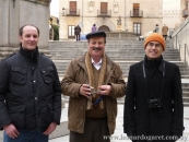 Con Alberto Prosper y Eloy Santos, Segovia, 17 diciembre de 2011.