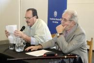 Día Internacional de la poesía, Museo Blanes, con el presidente de la Academia Adolfo Elizaincin.