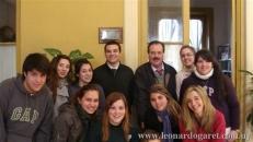 Con sus alumnos de 6 año del Colegio y Liceo Vaz Ferreira, Salto, 2010