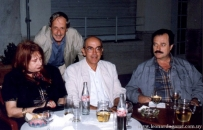 Con Marosa di Giorgio, Juan Introini y Ariel Mastandrea