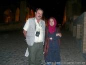 En Isfahán, con Najmeh Shobeirí. (2007)