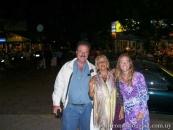 Con María Cristina Reyes y Aline Garet Reyes