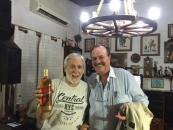 Con el poeta Mario Mele